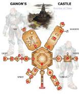 Inside Ganon's Castle Map