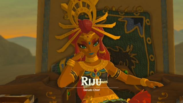 File:Breath of the Wild Gerudo Chief Makeela Riju (Intro Cutscene).png