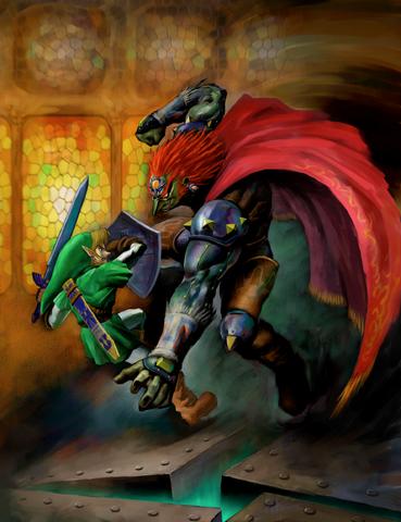 Arquivo:Link vs. Ganondorf (Ocarina of Time).png