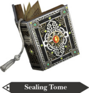 Hyrule Warriors Book of Sorcery Sealing Tome (Render)