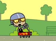 Eva Rides Wagon