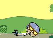 Edgar Crashing Wagon