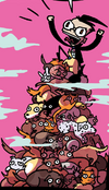Dib climbin pile o kitties