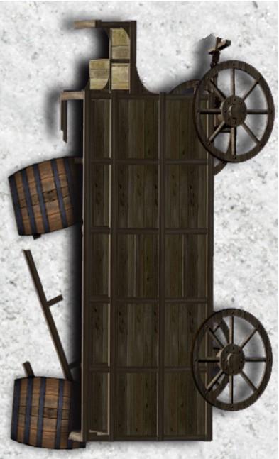 Black Plague - Token - Brewery Cart (Turned)