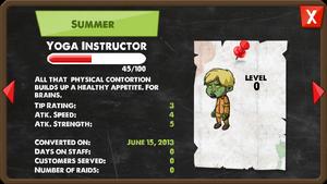 Zombie Yoga Instructor