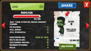 Zombie Hipster