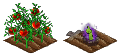 Grown Plant and Grown Zombie