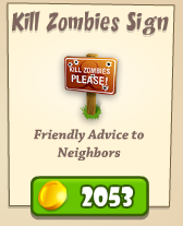 Kill Zombies Sign