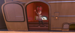 Judy waving goodbye
