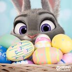 Judy in Easter Basket