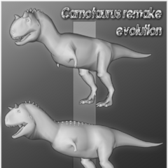 Carnotaurus models