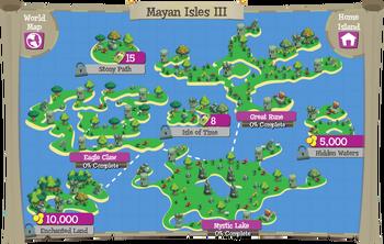 Mayan Isles III map