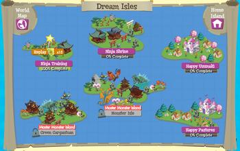 Dream Isles map