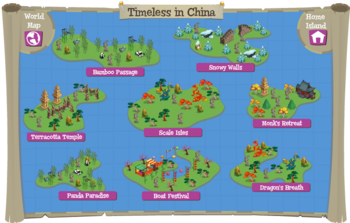 Timeless in China map
