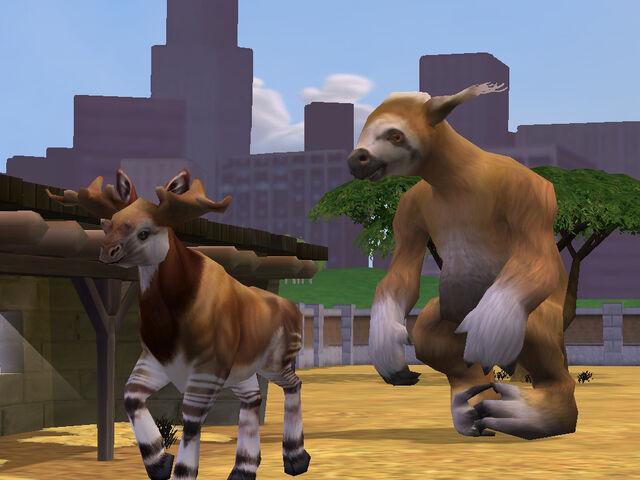 File:Sloth & Silvatherium.jpg