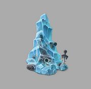 Skeleton Ice Block
